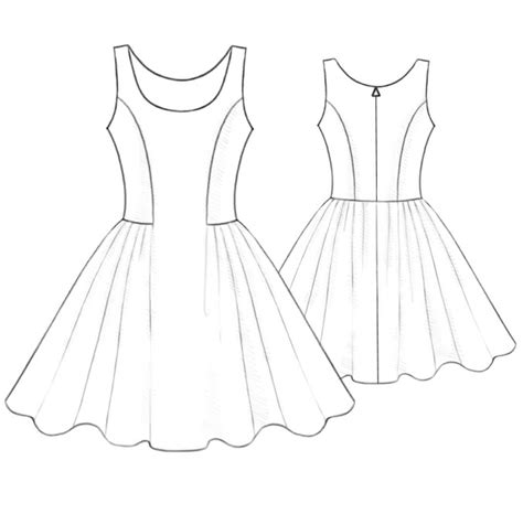 drawing a pattern for dress short polka dotted dress sewing pattern 5196 made to