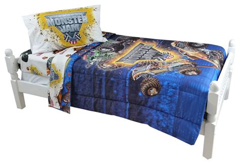 monster truck bed set monster jam twin bedding set truck destruction bed