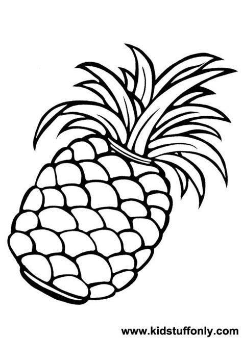 Pineapple Coloring Coloring Pages Pineapple Coloring Page