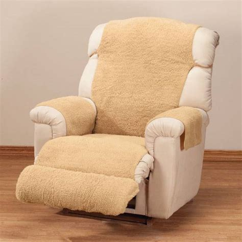 Fleece Recliner Cover by Sherpa Fleece Recliner Cover By Oak Ridge Comforts Ebay