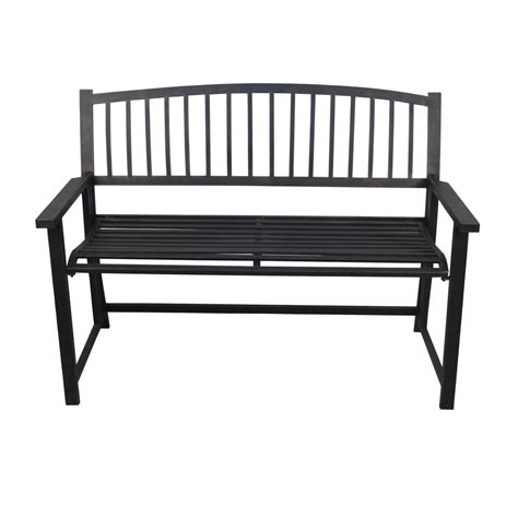 black metal bench crawford burke nolin 46 in black metal folding outdoor