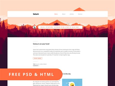 Html Psd Templates 35 free psd website templates 2015 2016 for modern design free psd templates