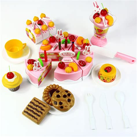 Kitchen Play Food by 75pcs Birthday Cake Diy Model Children Early