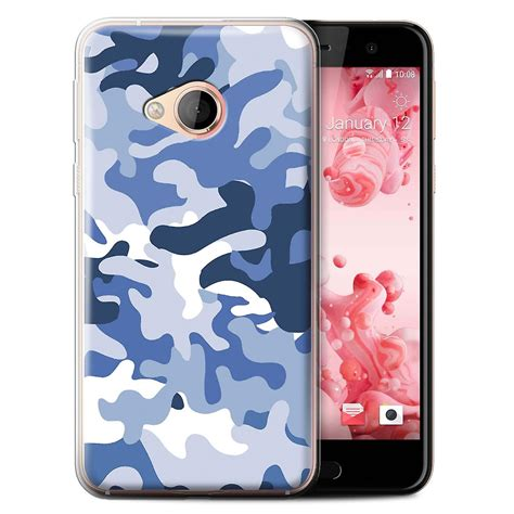 Htc U Play Back Casing Design 087 stuff4 gel tpu phone cover for htc u play alpine blue 1 design camouflage army navy