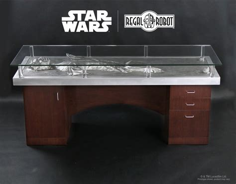 star wars desk accessories han solo carbonite desk regal robot