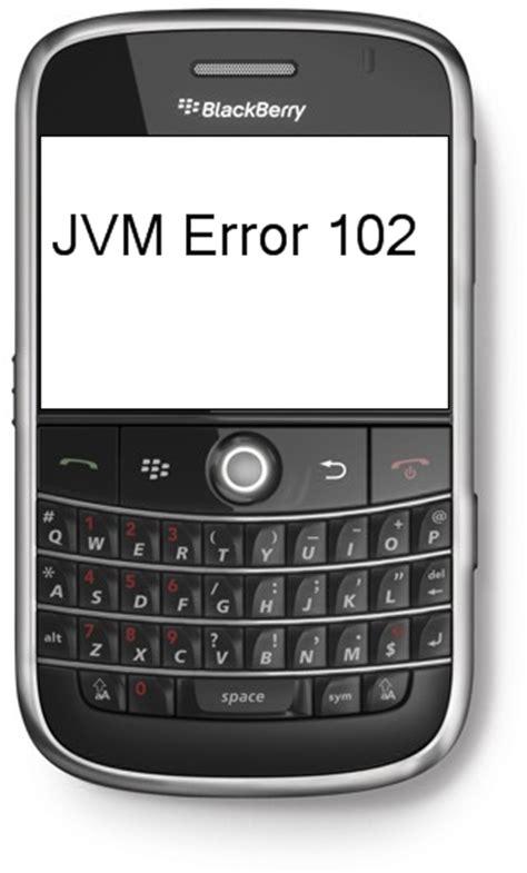 jvm reset blackberry michael s techblog jvm error 102