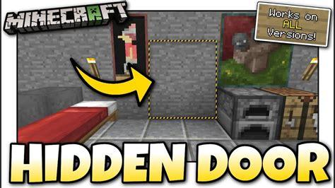 minecraft hidden secret door tutorial mcpe xbox