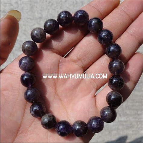 Model Gelang Batu Akik Wanita gelang batu kecubung ungu kode 197 wahyu mulia