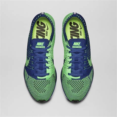 Nike Flyknit Racer Green 1 nike flyknit racer brave blue poison green sbd