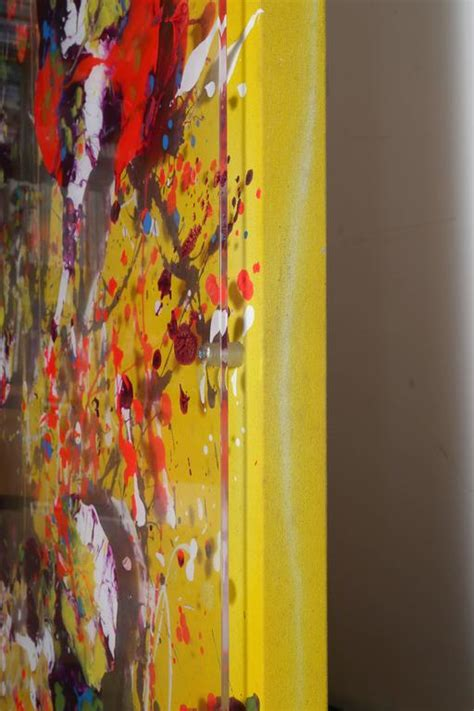 painting for 5 mcknight yellow abstract painting for sale at 1stdibs