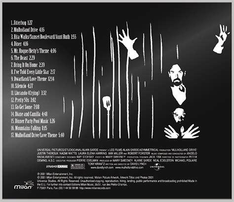 Cd Mudholland Dr Soundtrack 1 mulholland drive soundtrack cd revisited on behance