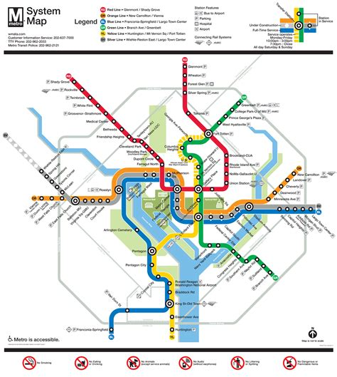 subway system map be ready for metro changes june 25 2017 wmata