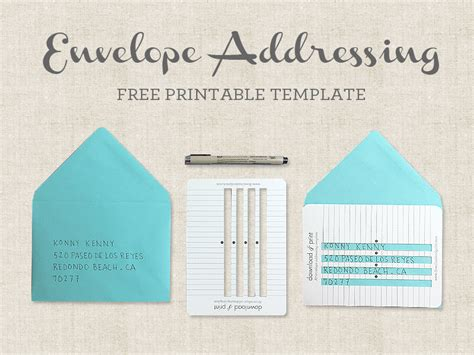 address template for envelopes free printable envelope addressing template