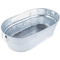 wash tub galvanized oval wash tub 3 7 gal home kitchen