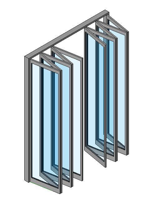 door in curtain wall revitcity com object curtain wall folding doors