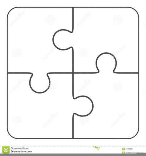 Four Interlocking Puzzle Pieces Clipart Free Images At Clker Com Vector Clip Art Online Jigsaw Puzzle Template Generator