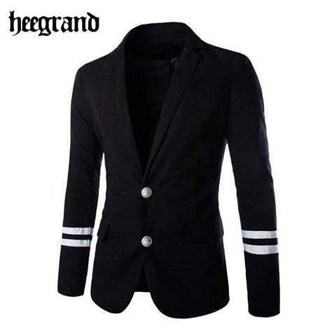 Blazer Style Navy Fit Blazer 82 hee grand 2016 solid slim fit blazer fashion casual blazer navy style dress suit jacket