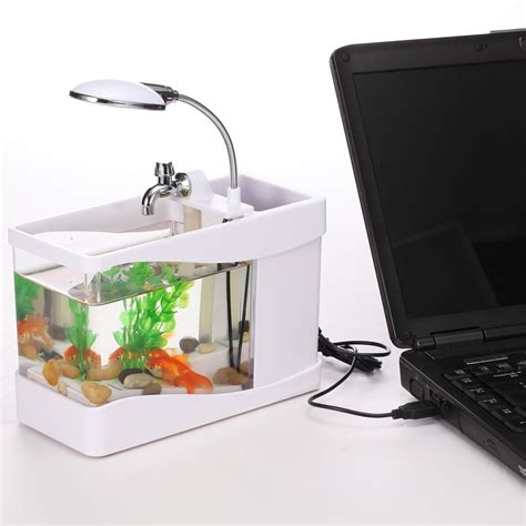 Usb Aquarium Mini usb desktop aquarium mini fish tank with running water akuarium mini elevenia