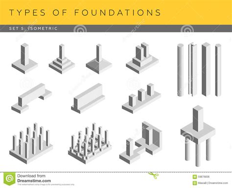 type of foundation types of foundations stock illustration image 59876836