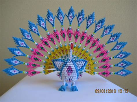Origami Peacock Diagram - 17 best ideas about 3d origami on modular