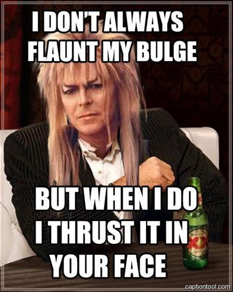 David Bowie Labyrinth Meme - haha and that s why there s a drinking game for exactly