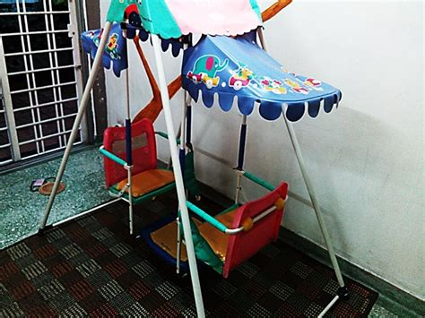 Baby Table Top Swing Two Baby Seat Swing Table Rocking Cradle Kindergar End 8