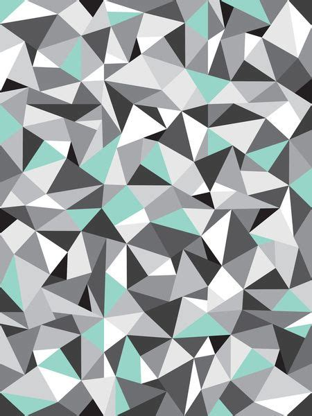 geometric triangle pattern design geometric pattern with a touch of colour turquoise