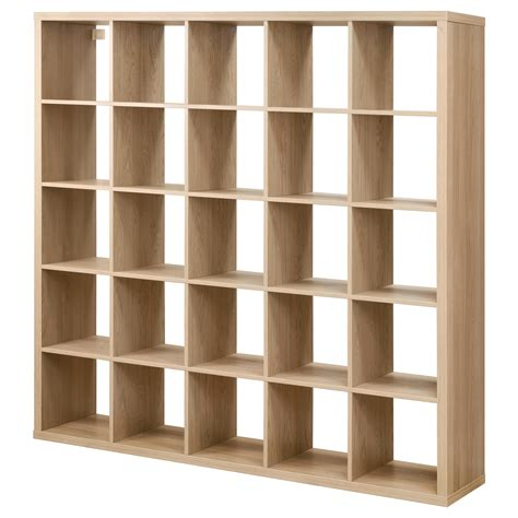 Kallax Shelving Unit Oak Effect 182x182 Cm Ikea Ikea Wood Shelves