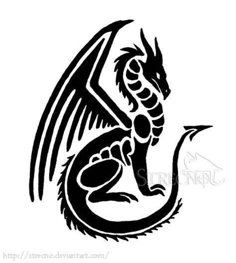 small dragon tattoo by strecno on deviantart