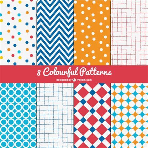 pattern design download free colorful patterns pack vector free download