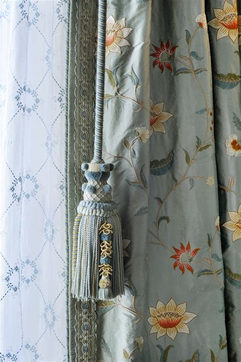 pull curtains silk lace and custom drapery pull drapery details