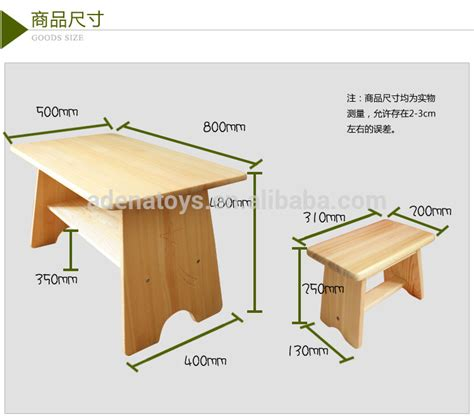 solid wood chairs writing table montessori