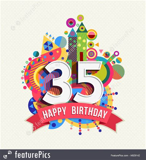 Happy Birthday 35 Years Greeting Cards happy birthday 35 years greeting cards best happy