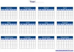 Editable Calendar 2014 Template by Blank Yearly Calendar Template Printable Calendar Templates