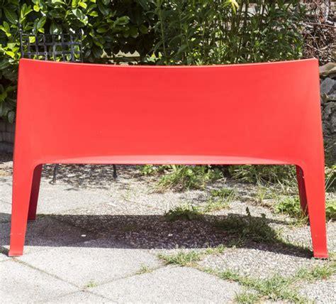 bank rot gartenbank rot sofa kunststoff outdoor bank rot