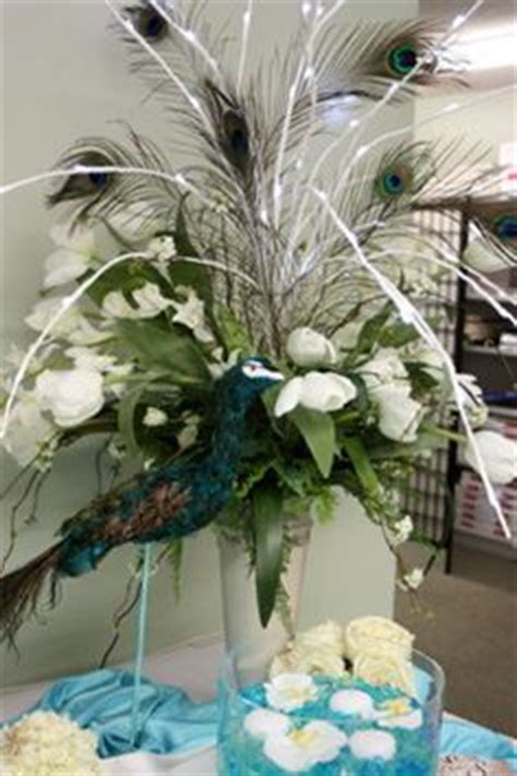 peacock feathers centerpieces 1000 images about feather florals on feather