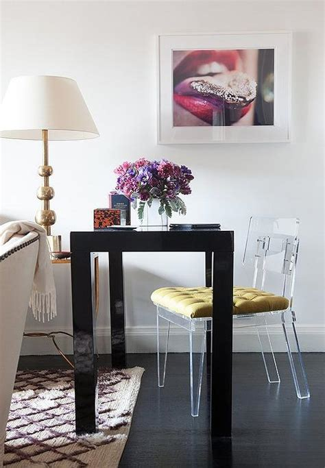 black and gold desk chair interior design inspiration photos by lilly bunn interior