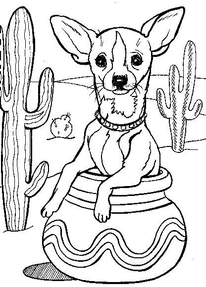 chihuahua coloring pages chihuahua coloring page for mexican book fair