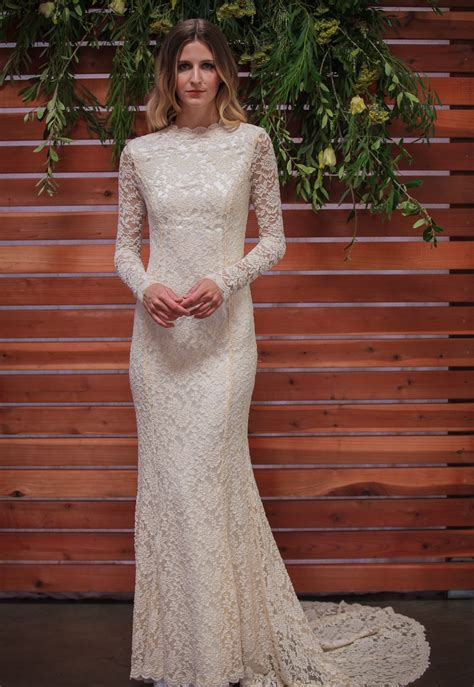 classic lace wedding dress  sleeves simple