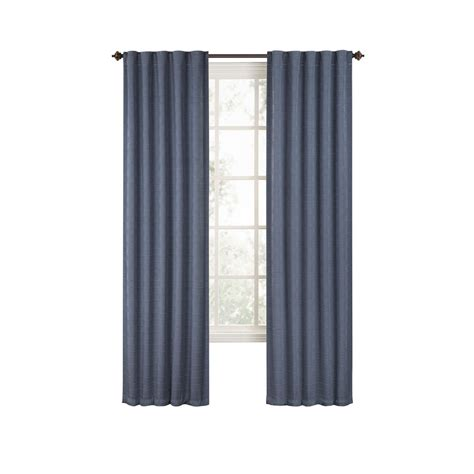 slate curtains shop style selections deleon 84 in l solid slate blue back