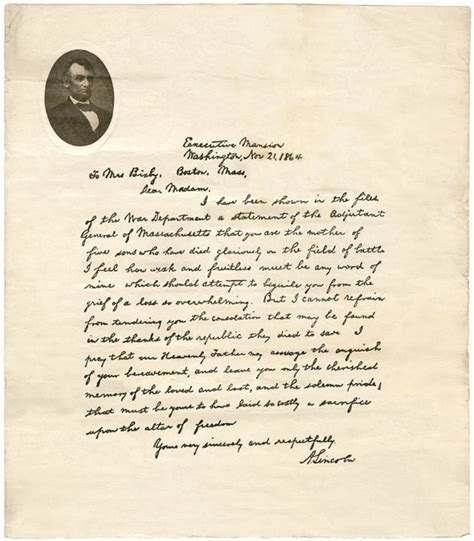 abraham lincoln letter to the 17 best ideas about bixby letter on abraham