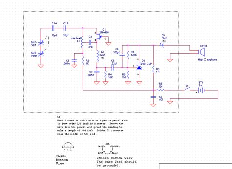 single transistor fm transmitter circuit diagram guitar pre with jfet 2n5457 schematic design
