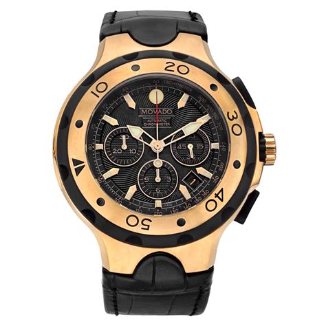 Swiss Army Sa0080 Black Ring Rosegold pre owned movado tom brady 18k gold limited edition for charity betteridge