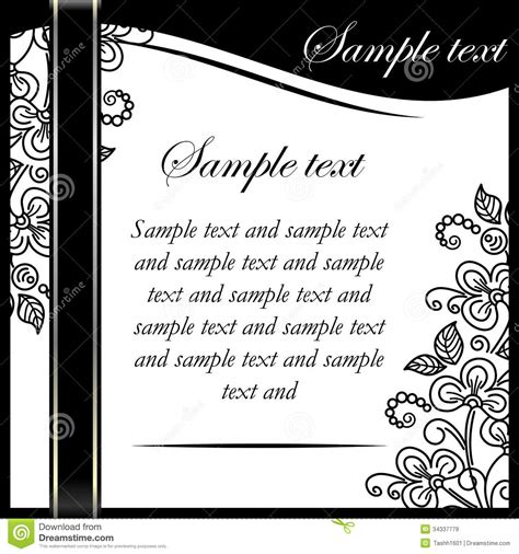 black and white wedding invitations templates invitation printable images gallery category page 7