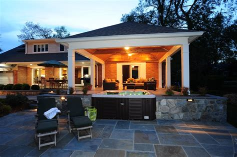 azek deck contractor in rockville md with flagstone patio