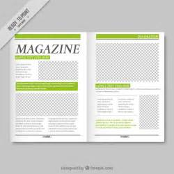 magazine template simple magazine template with green details vector free