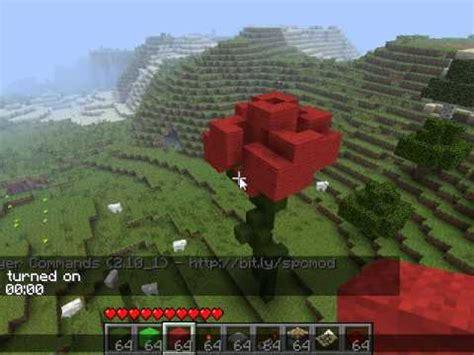 mini minecraft creations giant rose youtube