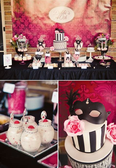 chic  birthday party ideas  women shelterness