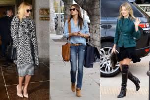 Celebrity Style by Celebrities Winter Street Style Photos Of Celeb Street Style