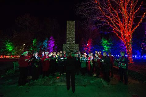 Arboretum Lights by Carolers Belt Out Some Tunes Photo By